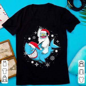 Awesome Yeti To Party Shark Santa Hat Christmas shirt