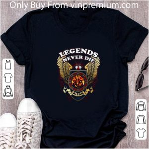 Awesome Legends Never Die Kiss Band Wings shirt