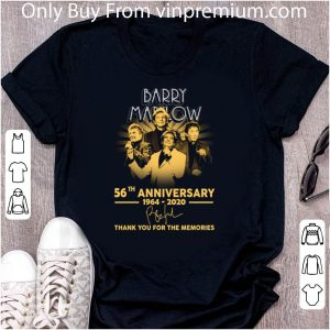 Awesome Barry Manilow 56th Anniversary 1964-2020 Signature shirt