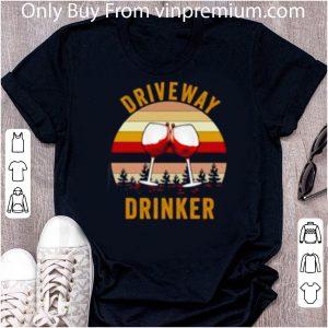 Awesome Wine Driveway drinker sunset shirt