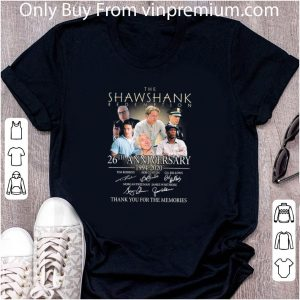 Awesome The Shawshank Redemption 26th Anniversary 1994 2020 Signatures shirt