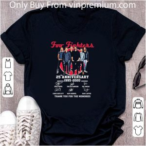 Awesome Foo Fighters 25th Anniversary 1995 2020 Signatures shirt