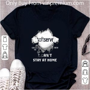 Awesome Softserve Insides Me Covid-19 2020 I Can't Stay At Home shirt