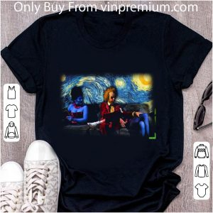 Awesome Halloween Lydia Beetlejuice Starry Night shirt