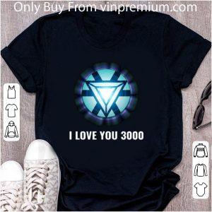 Premium Energy Arc Reactor Iron Man Tony Stark I love you 3000 shirt 1