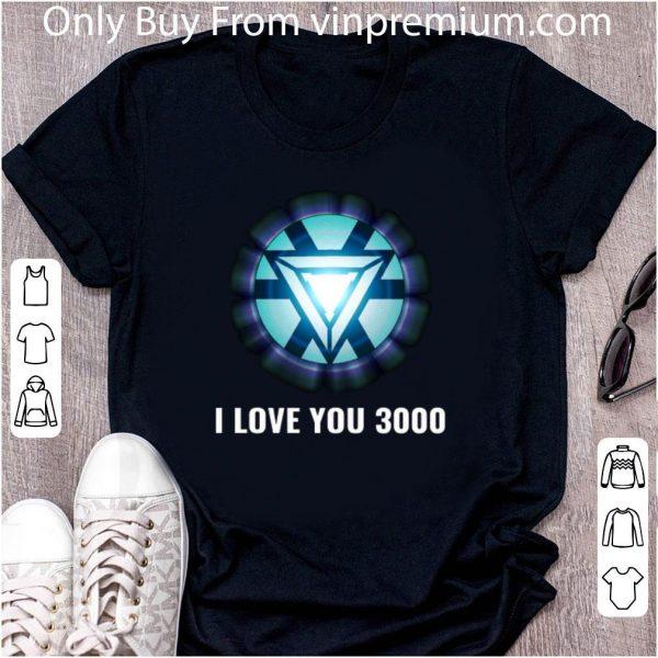 Premium Energy Arc Reactor Iron Man Tony Stark I love you 3000 shirt