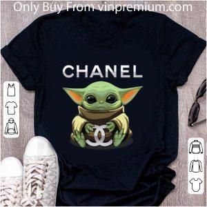 Awesome Baby Yoda Hug Chanel shirt