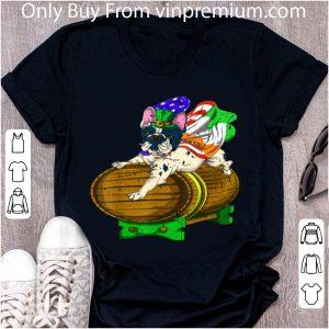 Awesome St Patricks Day Party Green Us Flag Ireland French Bulldog T shirt
