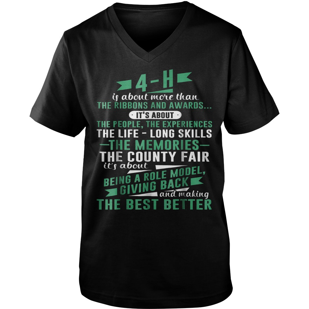 4-H Experience Is More Than Ribbons And Awards T-Shirt Guys V-Neck