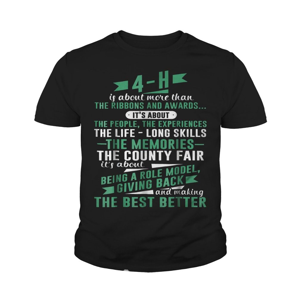 4-H Experience Is More Than Ribbons And Awards T-Shirt Youth Tee