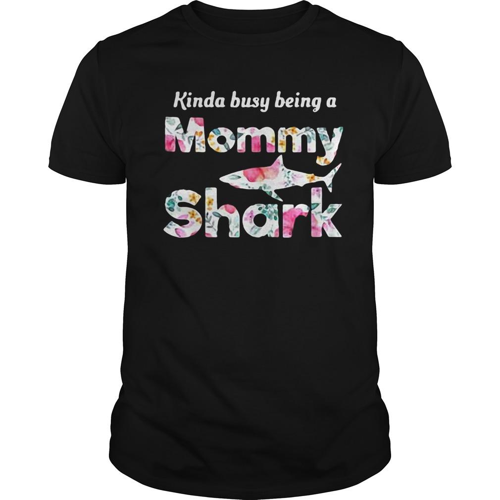 Being A Mommy Shark T-Shirt Classic Guys / Unisex Tee