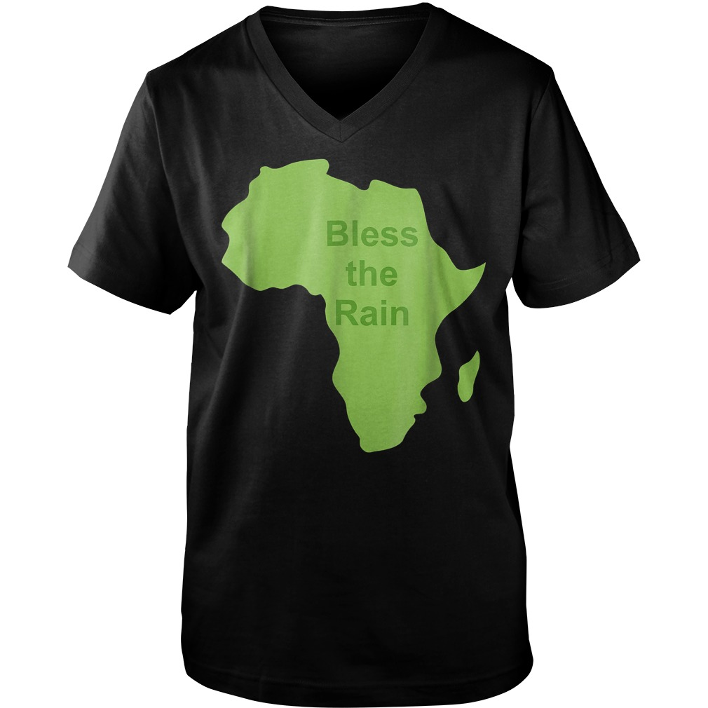 Bless The Rain Down in Africa T-Shirt Guys V-Neck
