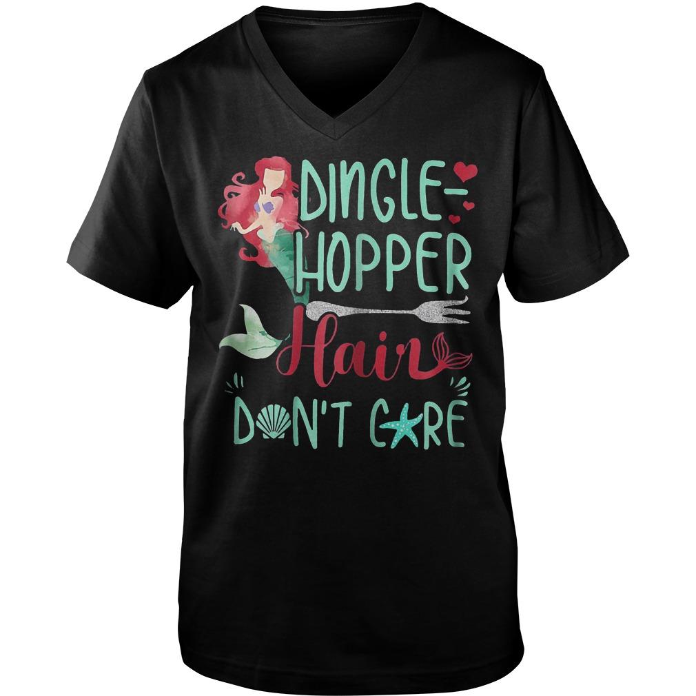 Dingle Hopper Hair Don't Care Mermaid T-Shirt Guys V-Neck