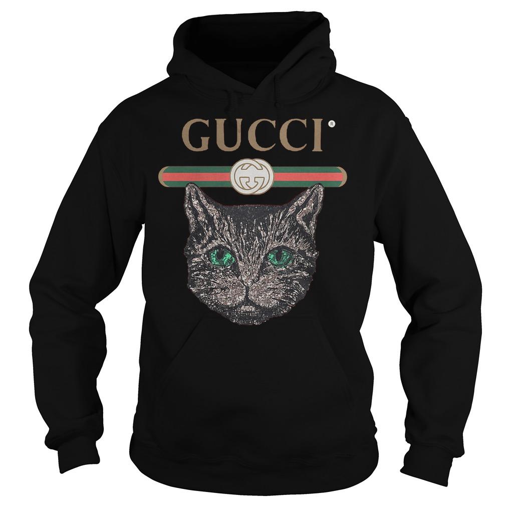 Gucci Logo Mashup With Mystic Cat T-Shirt Hoodie