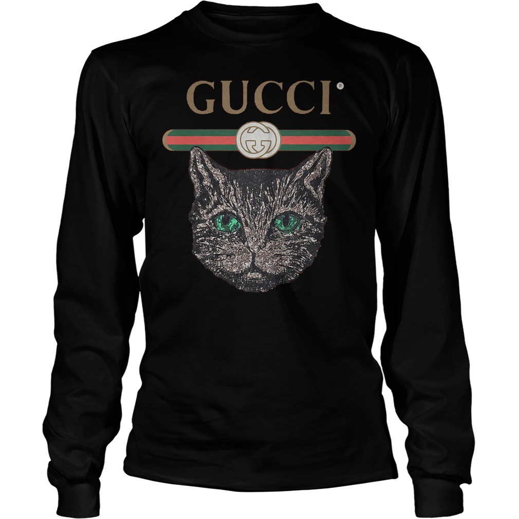 Gucci Logo Mashup With Mystic Cat T-Shirt Unisex Longsleeve Tee