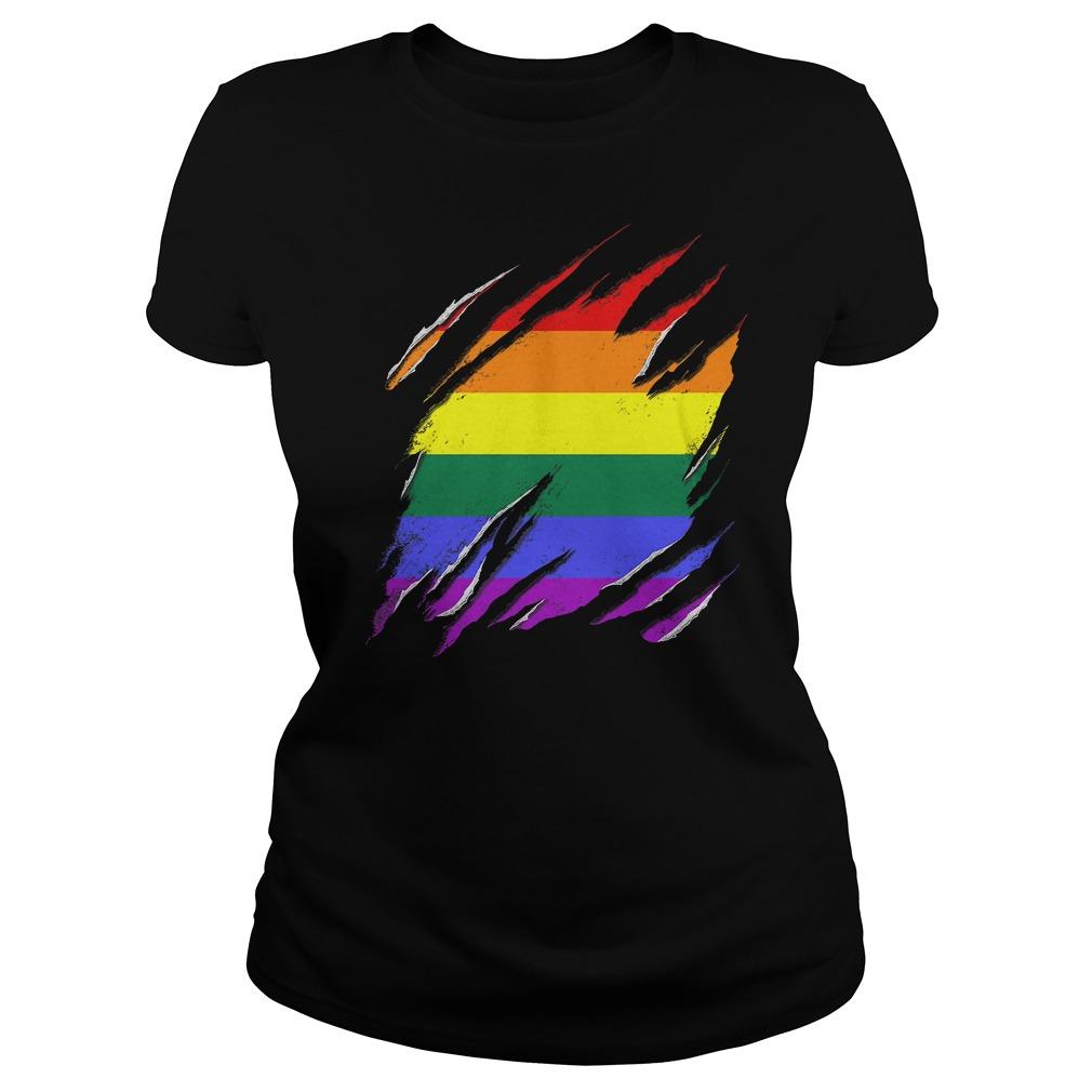Official LGBT Flag T-Shirt Ladies Tee