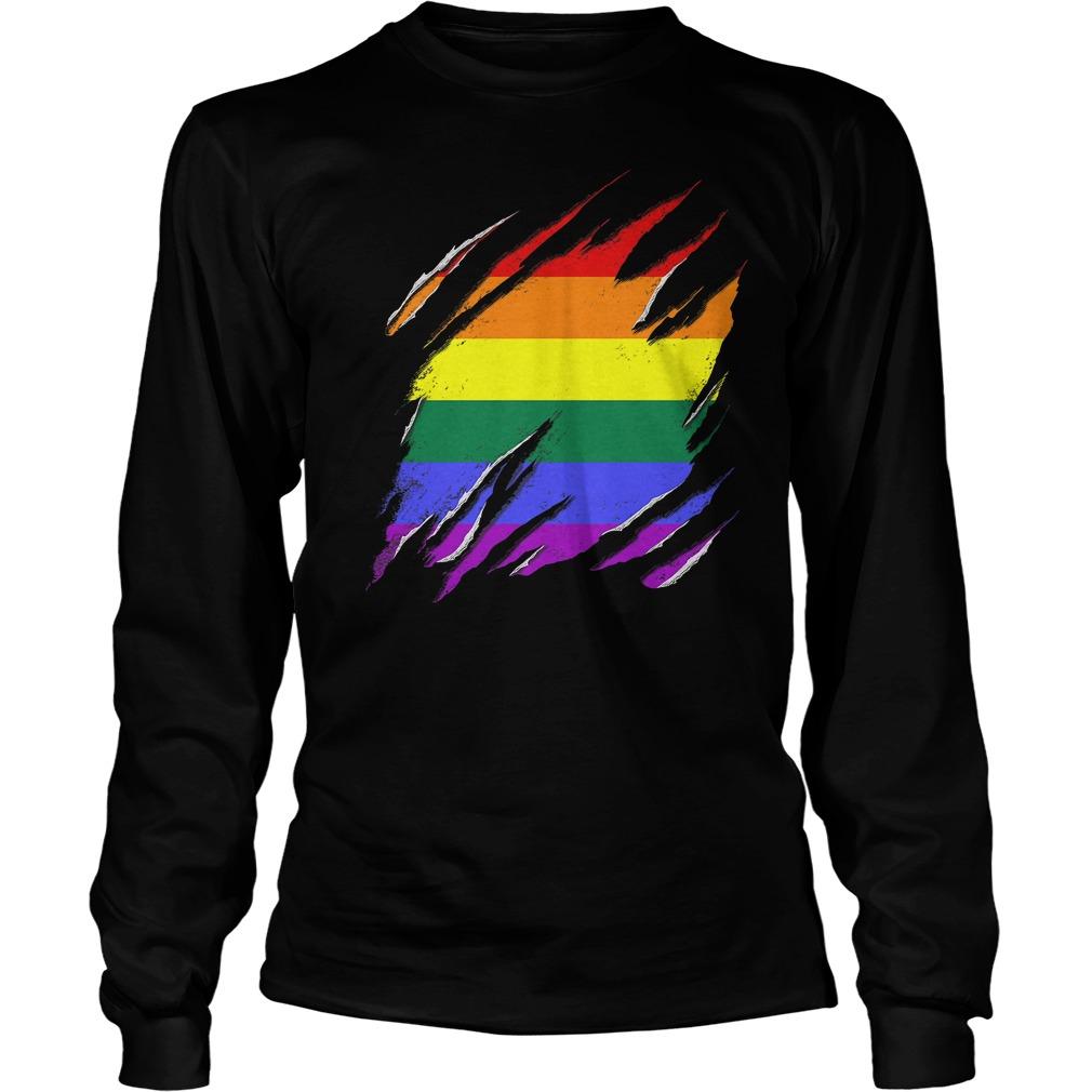 Official LGBT Flag T-Shirt Unisex Longsleeve Tee