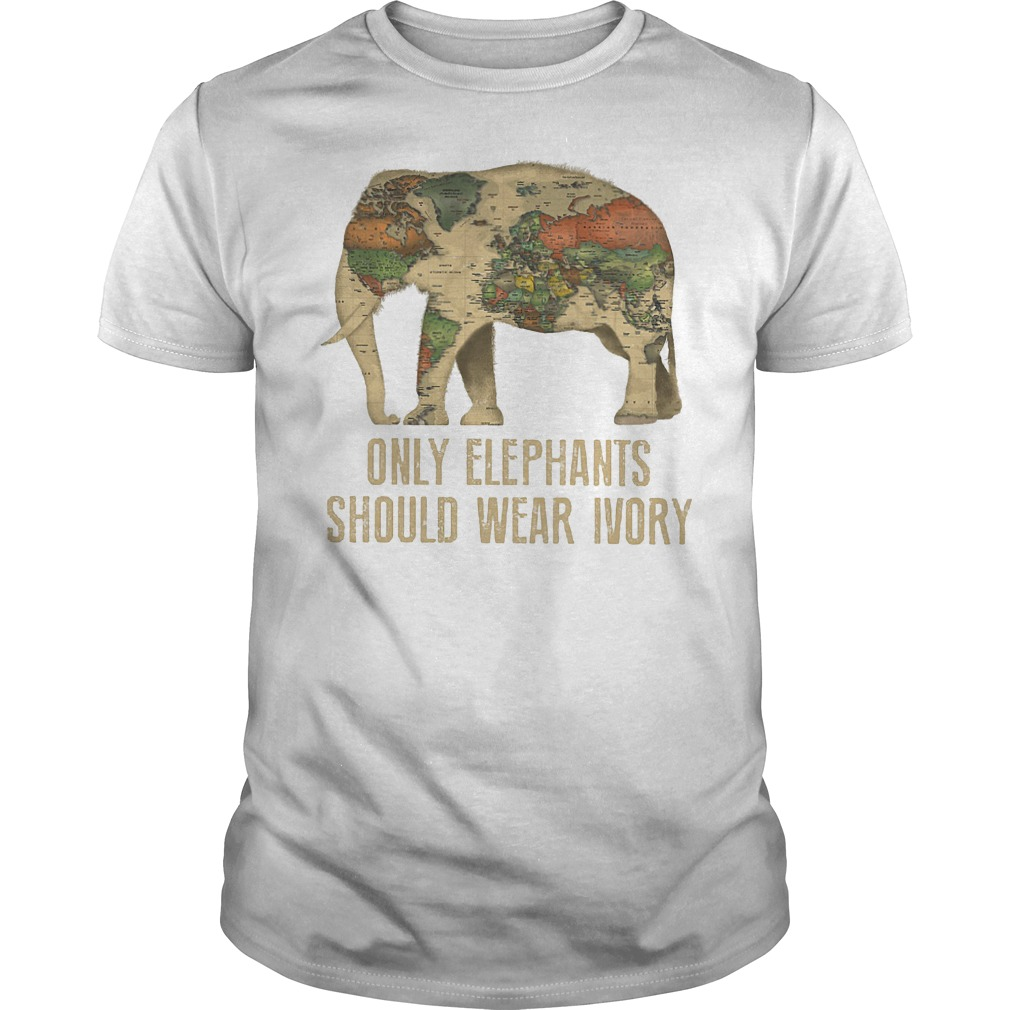 Only Elephants Should Wear Ivory T-Shirt Guys Tee