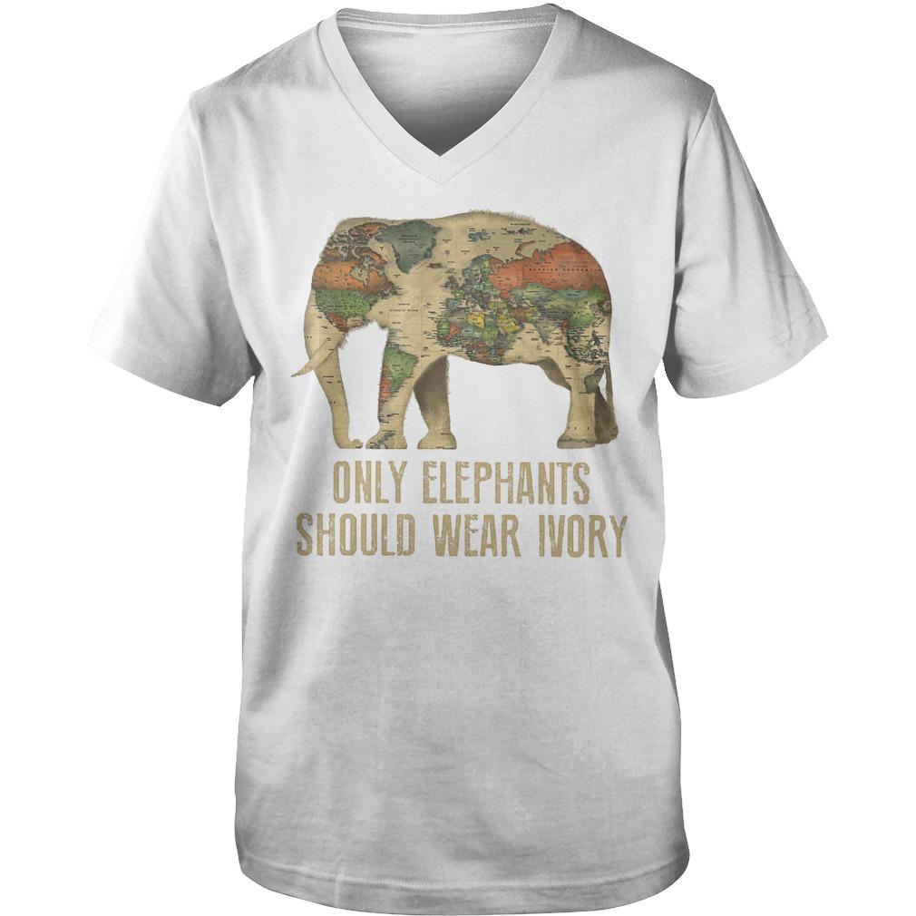Only Elephants Should Wear Ivory T-Shirt Guys V-Neck