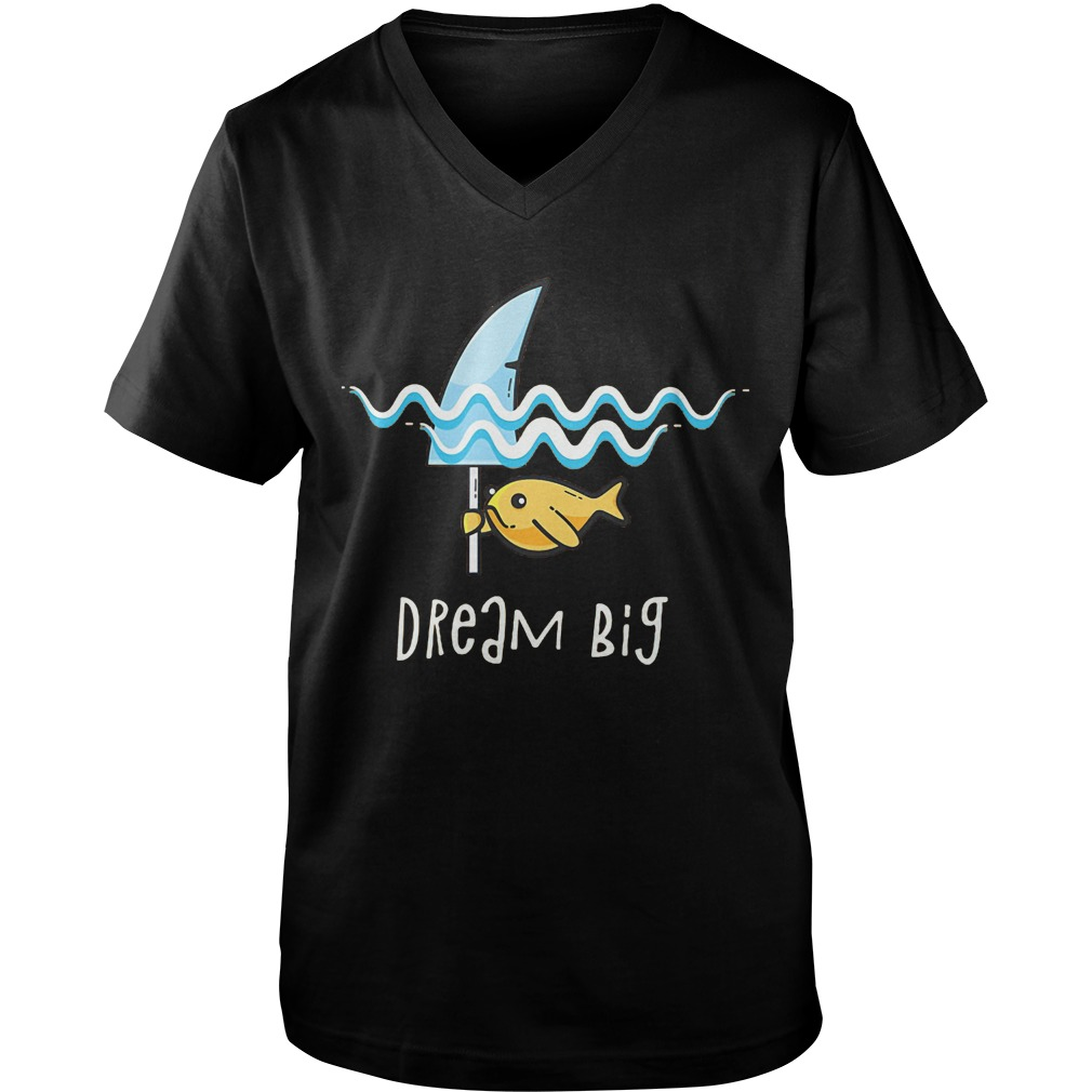 Premium Shark Dream Big T-Shirt Guys V-Neck