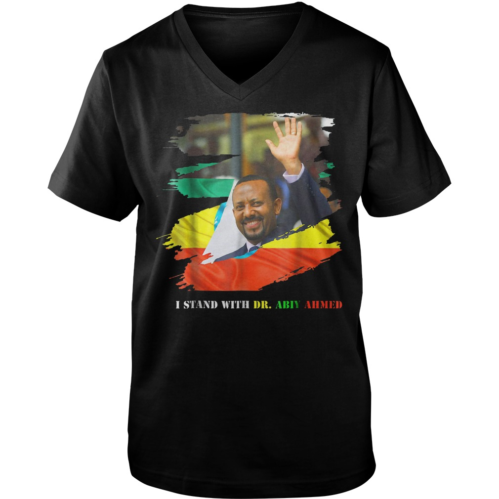 Proud Ethiopian Stand With Dr Ethiopia Abiy Ahmed T-Shirt Guys V-Neck