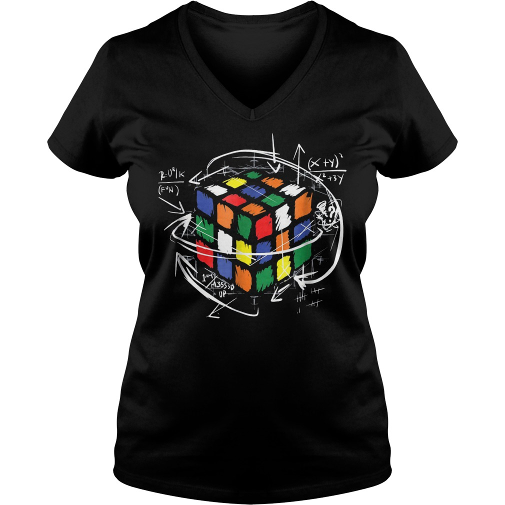 Rubik Cube Math Ladies V-Neck