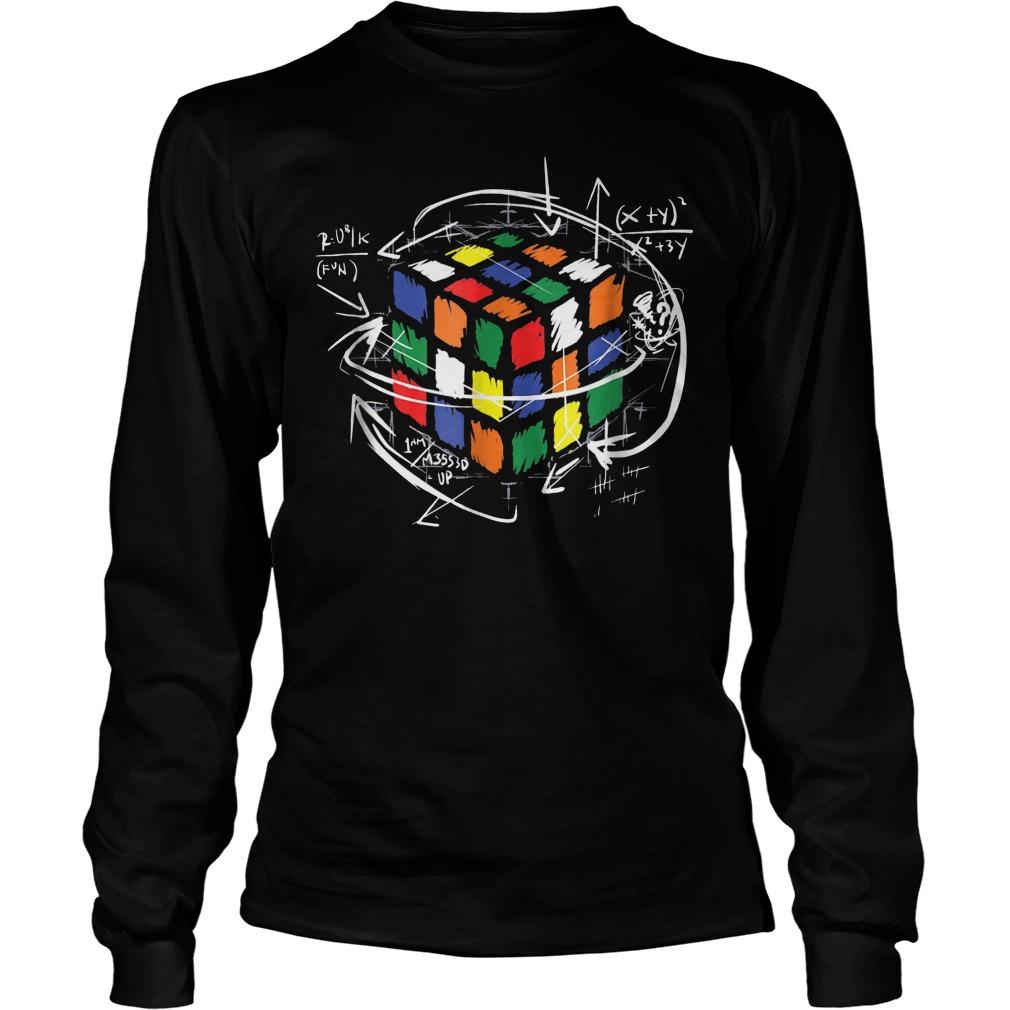 Rubik Cube Math Unisex Longsleeve Tee