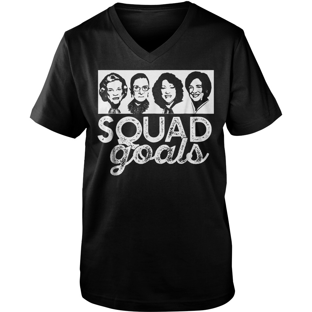 Squad Goals Supreme Court Justices T-Shirt Guys V-Neck