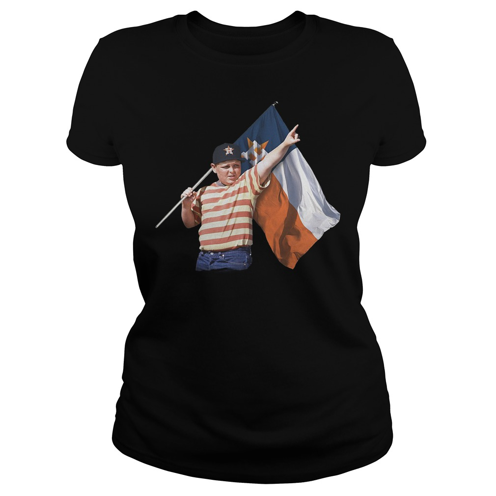 The Sandlot And Houston Astros Flag T-Shirt Classic Ladies Tee
