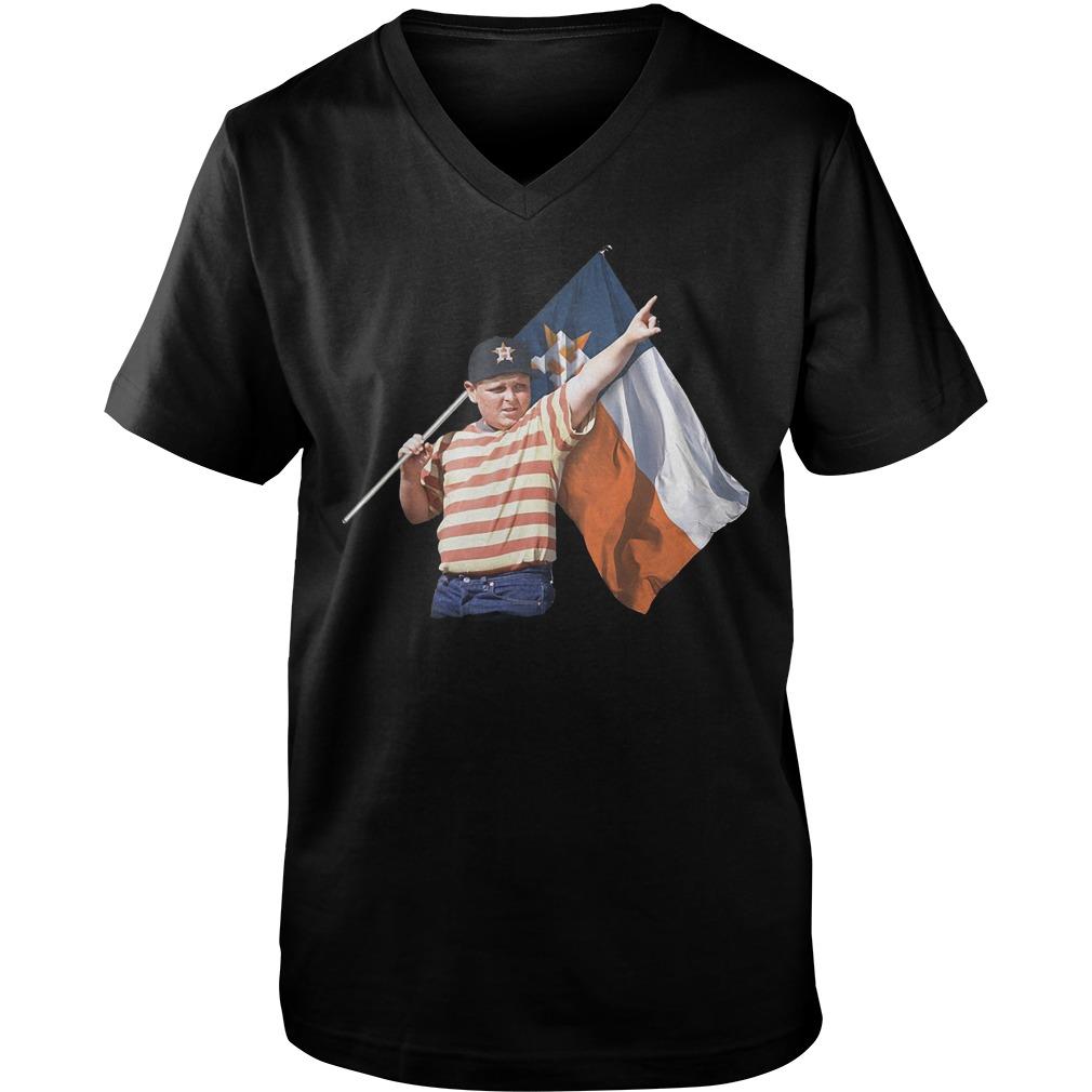 The Sandlot And Houston Astros Flag T-Shirt Guys V-Neck