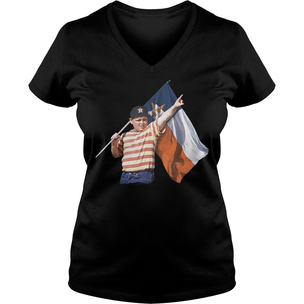 The Sandlot And Houston Astros Flag T-Shirt Ladies V-Neck