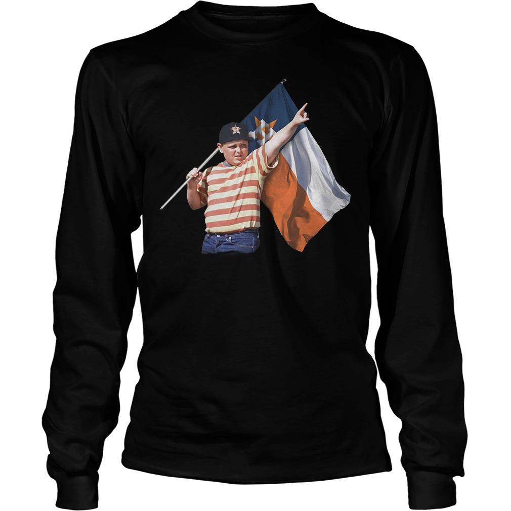 The Sandlot And Houston Astros Flag T-Shirt Longsleeve Tee Unisex