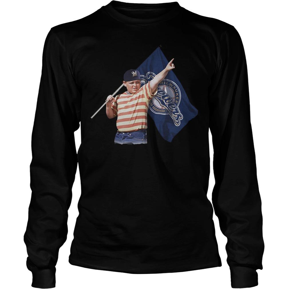 The Sandlot And Milwaukee Brewers Flag T-Shirt Longsleeve Tee Unisex