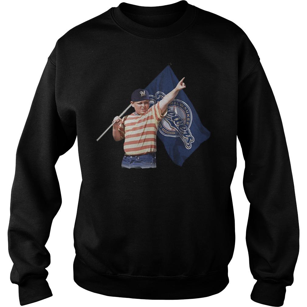 The Sandlot And Milwaukee Brewers Flag T-Shirt Sweatshirt Unisex