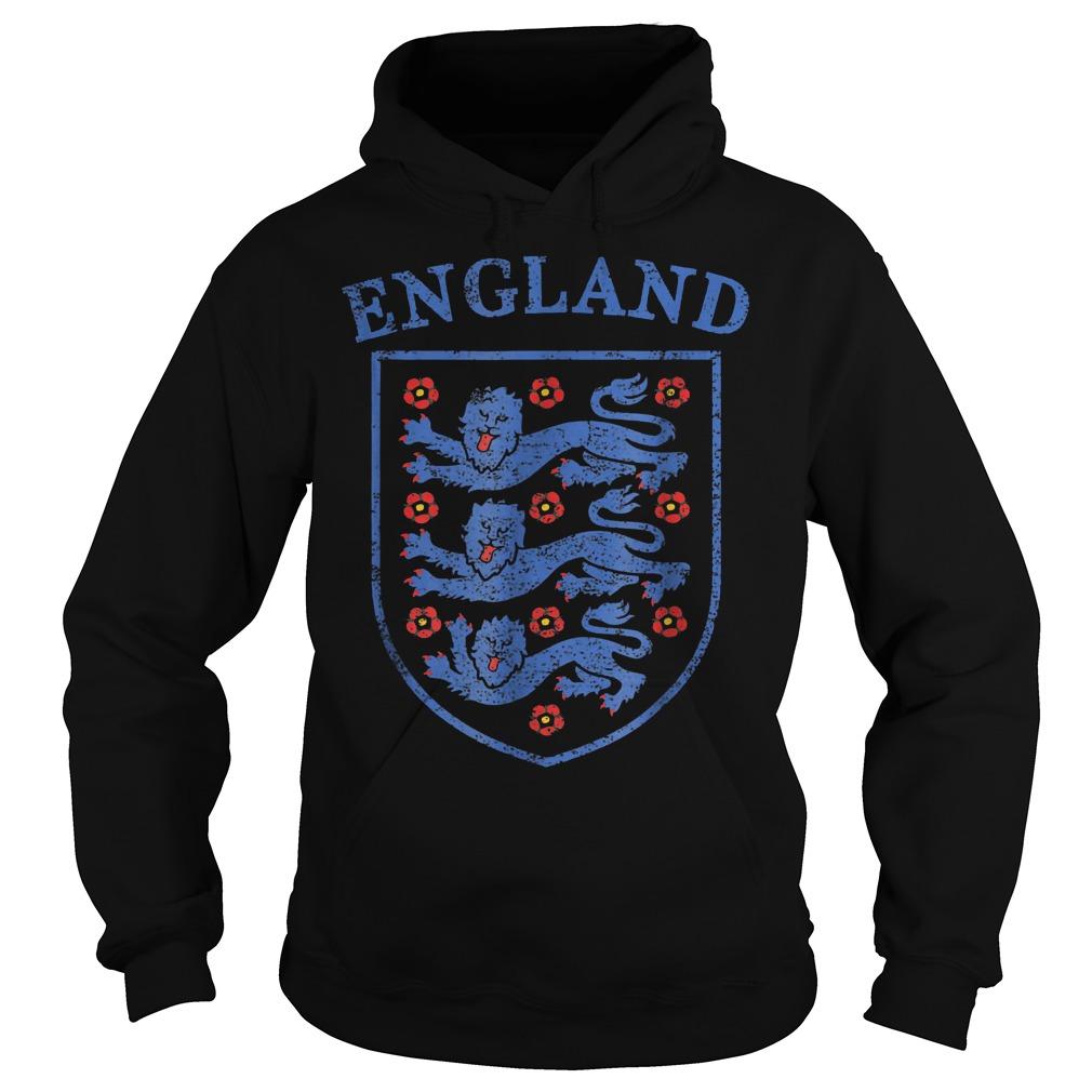 Vintage England Lions World Soccer Team Russia 2018 T-Shirt Hoodie