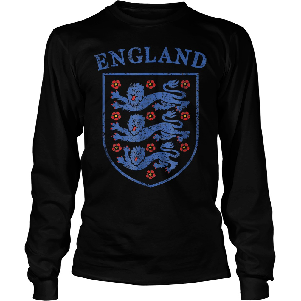Vintage England Lions World Soccer Team Russia 2018 T-Shirt Unisex Longsleeve Tee