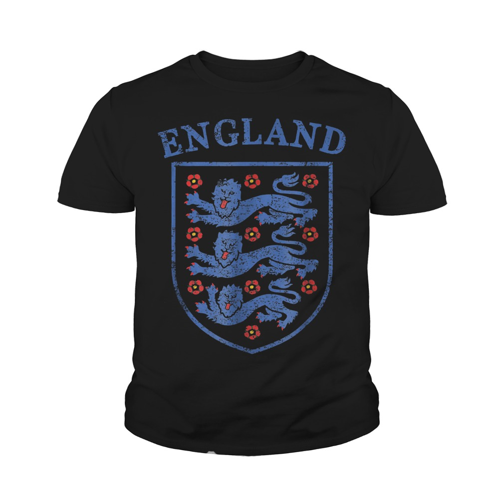 Vintage England Lions World Soccer Team Russia 2018 T-Shirt Youth Tee