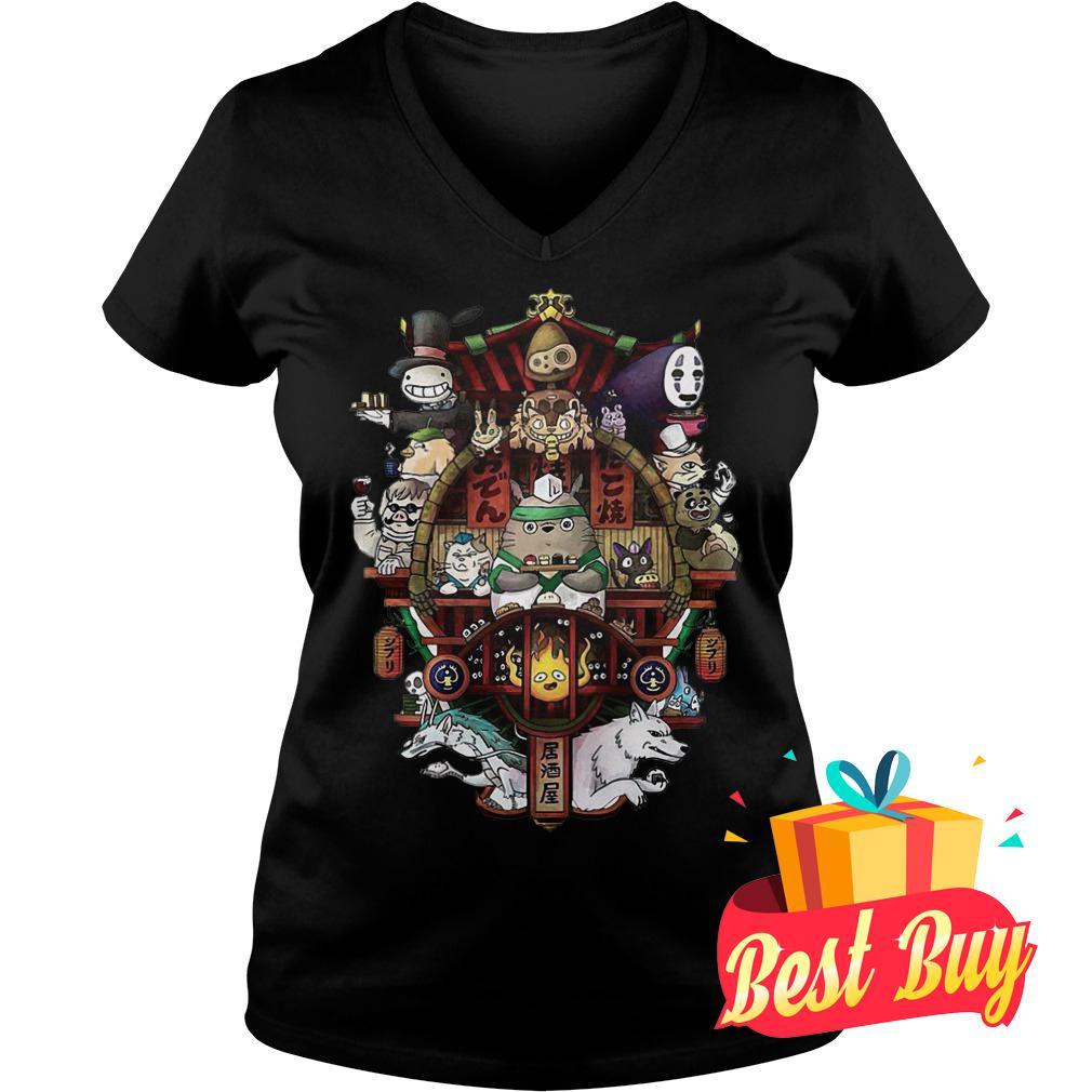 Best Price Ghibli Totoro shirt Ladies V-Neck