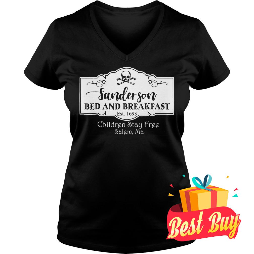 Best Price Halloween Sanderson Bed And Breakfast shirt Ladies V-Neck