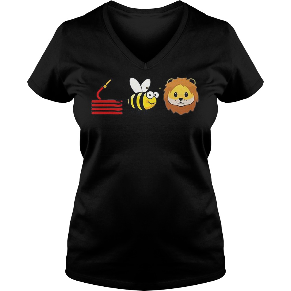 Best Price Hose Bee Lion shirt Ladies V-Neck