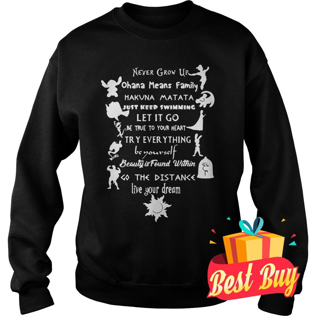 Official 11 lessons Disney shirt Sweatshirt Unisex