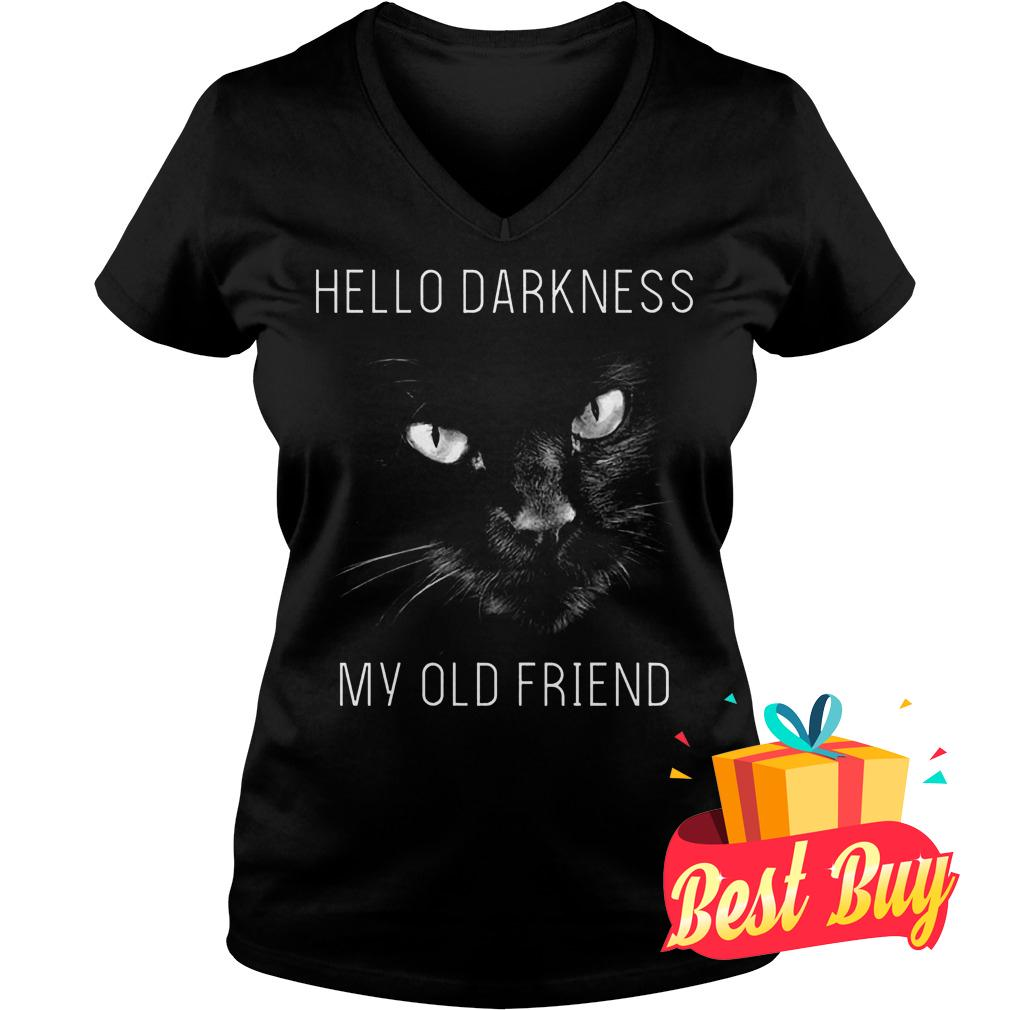 Official Cat Hello darkness my old friend Shirt Ladies V-Neck