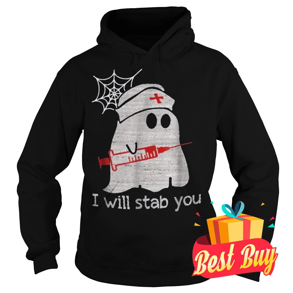 Official Nurse ghost I will stab you Shirt Hoodie