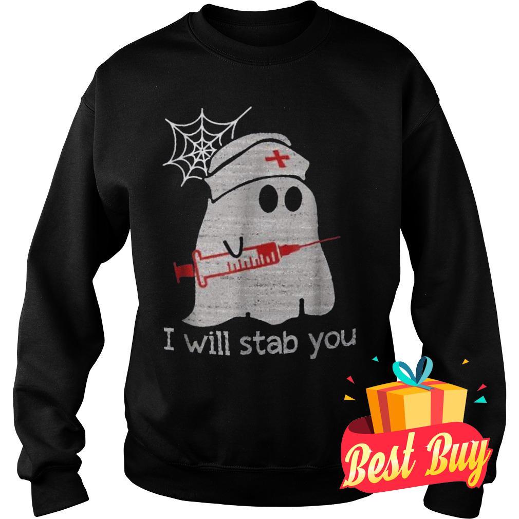 Official Nurse ghost I will stab you Shirt Sweatshirt Unisex