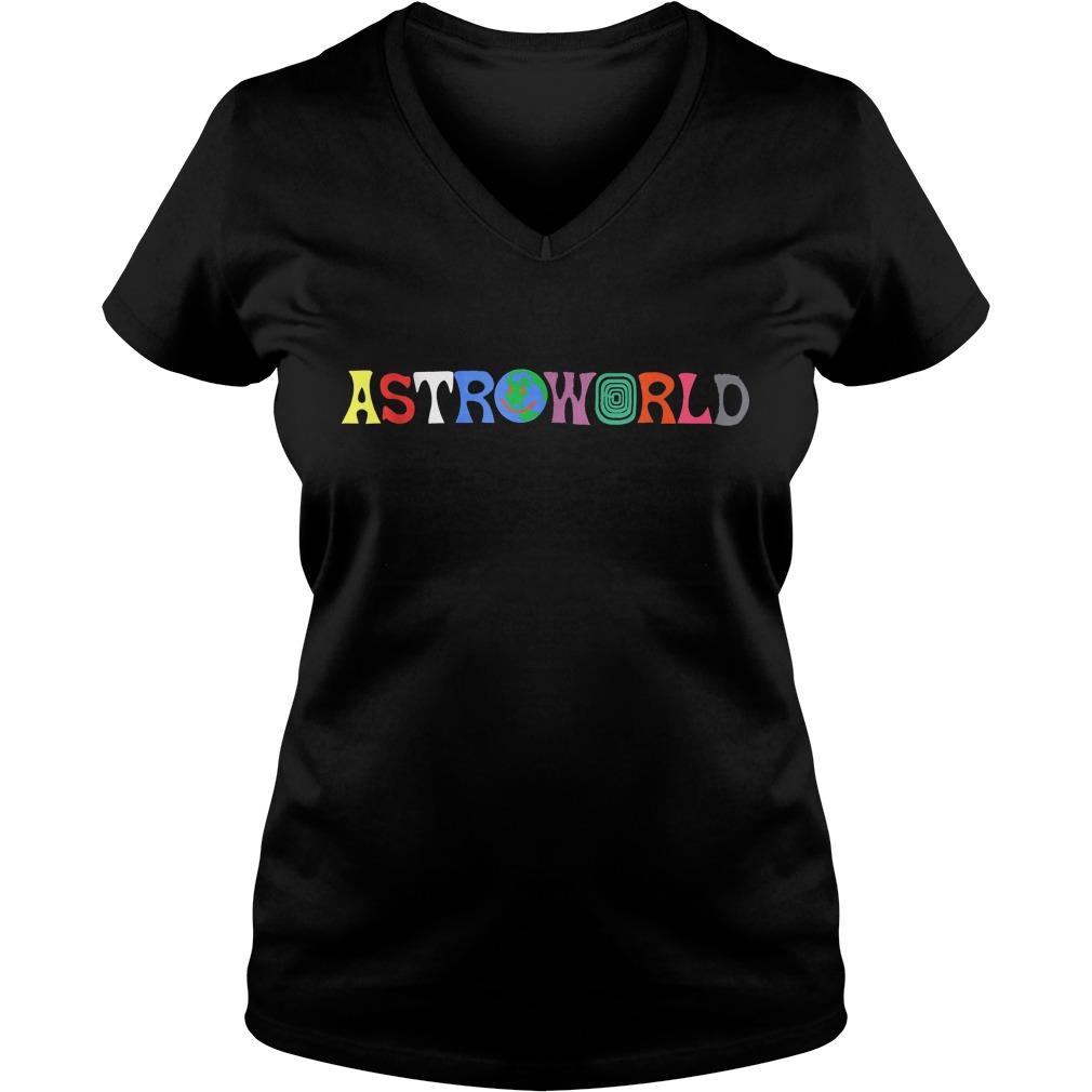 Official Travis Scott Astroworld Shirt Ladies V-Neck