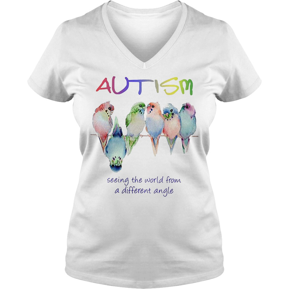 Original Autism seeing the world from a different angle shirt Ladies V-Neck