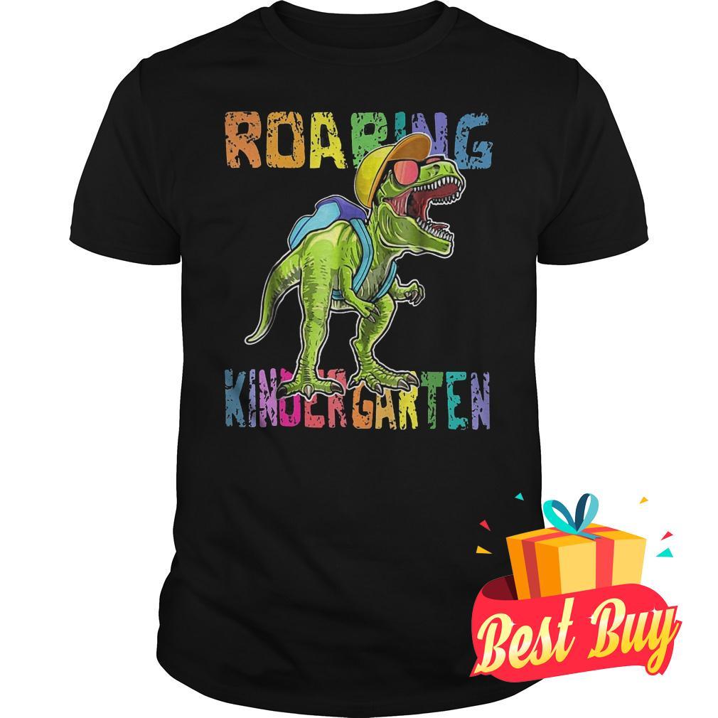 Premium Back To School Roaring Kindergarten Dinosaur Shirt