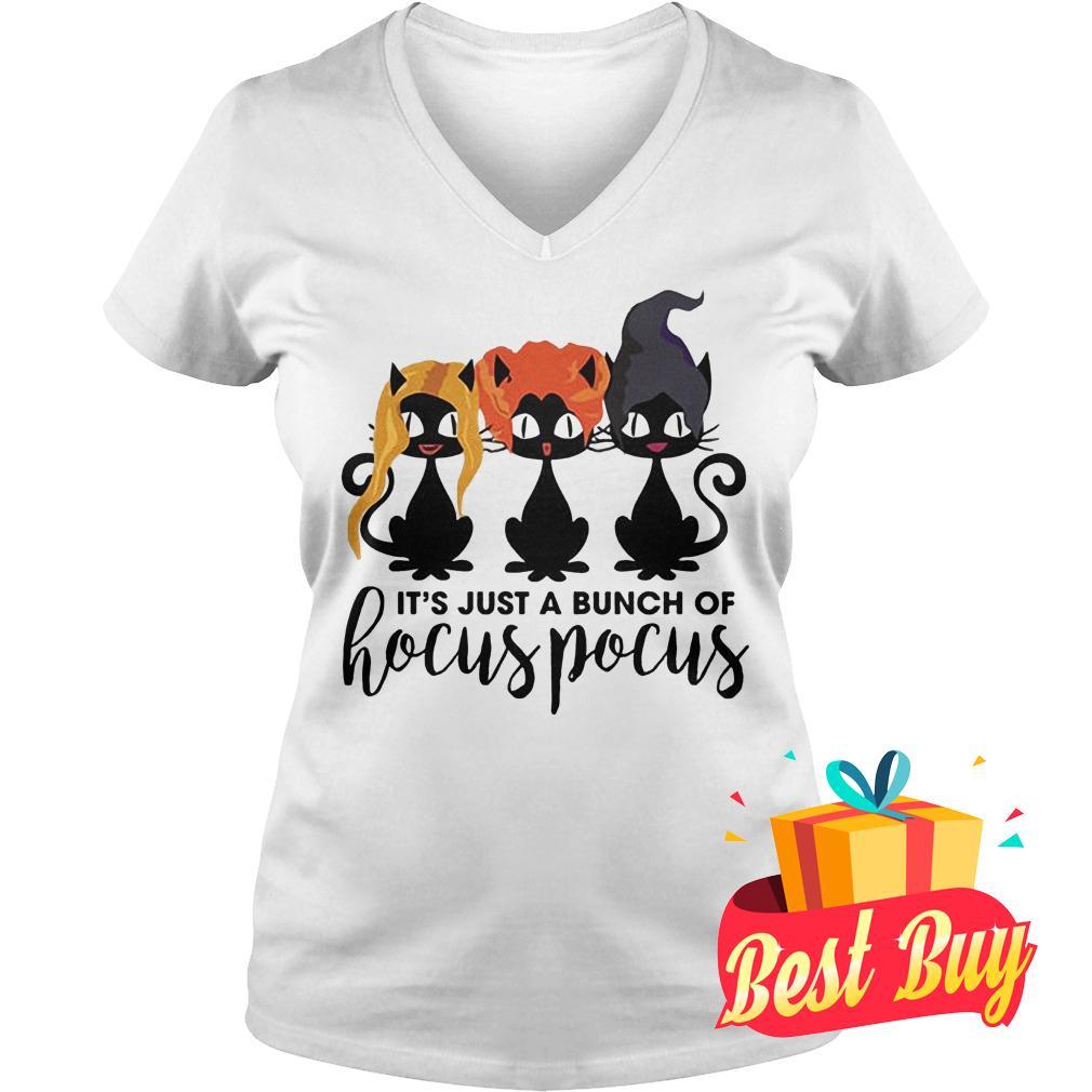 Premium Cat It's Just A Bunch Of Hocus Pocus Shirt Ladies V-Neck