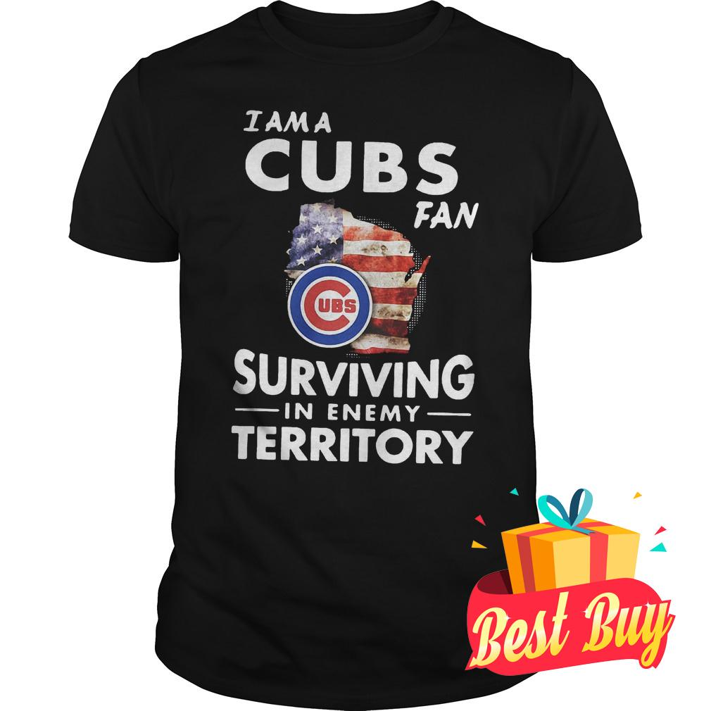 Premium Chicago Cubs I am a Cubs fan surviving in enemy territory shirt