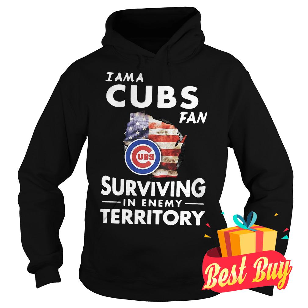 Premium Chicago Cubs I am a Cubs fan surviving in enemy territory shirt Hoodie